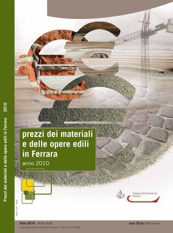 prezzi dei materiali e delle opere edili in Ferrara - Camera di ...