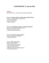 ALUNOS ESPECIAIS – 2º semestre/2012
