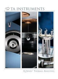 TA Instruments - Department of Mechanical Engineering