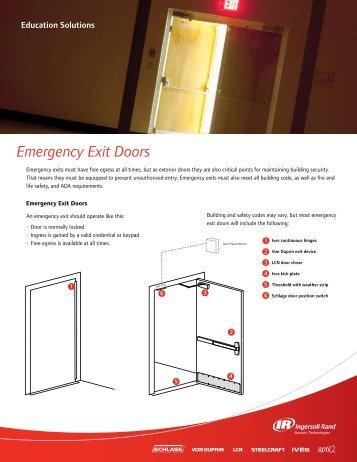 Emergency Exit Doors - Chown Hardware