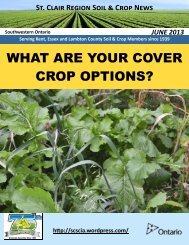 June 13 - Ontario Soil and Crop Improvement Association