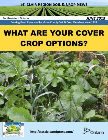 June 13 - Ontario Soil and Crop Improvement Association