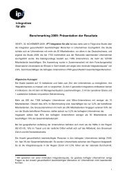 Resultate Benchmarking 2009 - Compasso