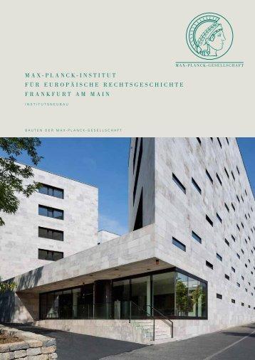 Max-Planck-InstItut für euroPäIsche rechtsgeschIchte frankfurt aM ...