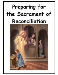 Reconciliation Preparation Card - Diocese of Baker