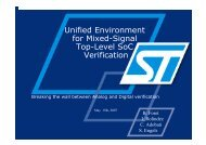 Unified Environment for Mixed-Signal Top-Level SoC Verification
