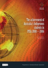 The achievement of Australia's Indigenous students in PISA ... - ACER