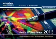 Media Informationen 2013 Media Informationen 2013