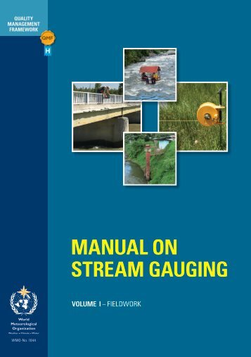 MANUAL ON STREAM GAUGING - E-Library - WMO