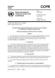 Pacte international relatif aux droits civils et politiques - CCPR-Centre