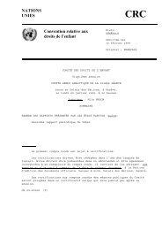 NATIONS UNIES Convention relative aux droits de l'enfant