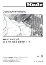 Gebrauchsanweisung Waschautomat W 3164 WSS Edition ... - Miele