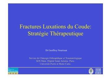 Fractures Luxations du Coude: Stratégie Thérapeutique - ClubOrtho.fr