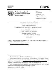 CCPR Pacte international relatif aux droits civils et politiques