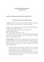 Estatuto Social de Médicos Sem Fronteiras Brasil