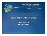 Visualization with ArcGlobe