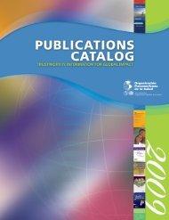 Alcohol - PAHO Publications Catalog