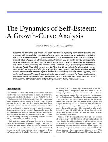 An analysis of the self confidence in football