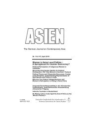 Dokumentation in der ASIEN, Nr. 114/115, April - Martin Wagener