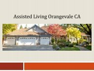 Assisted Living Orangevale CA