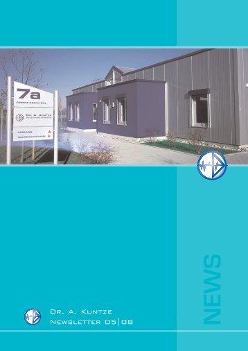 News 05/08 - Dr. A. Kuntze GmbH