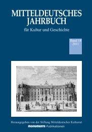 MITTELDEUTSCHES JAHRBUCH - Stiftung Mitteldeutscher Kulturrat