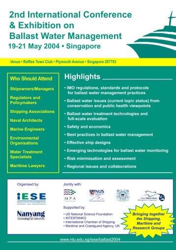 Ballast Conference Brochure - Global Ballast Water Programme - IMO
