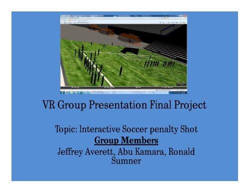 VR Group Presentation Final Project
