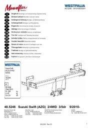 48.5248 Suzuki Swift (AZG) 2/4WD 3/5dr 9/2010-
