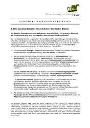 1 Jahr Soziallandesrätin Erika Scharer - Salzburger Armutskonferenz