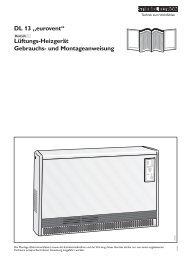 """DL 13 """"eurovent"""" Lüftungs-Heizgerät Gebrauchs- und - Stiebel Eltron"""