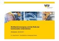 Breitbandversorgung und die Rolle der kommunalen Unternehmen