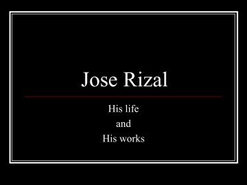 Jose Rizal - About the Philippines