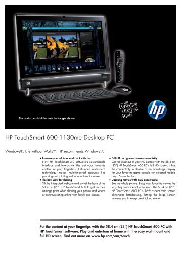 PSG Consumer 1C10 HP Desktop Datasheet - am4computers