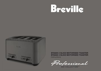 Get the Instruction Book for this product - Breville