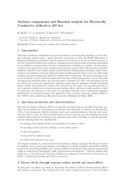 Variance components and Bayesian analysis for Electrically ...