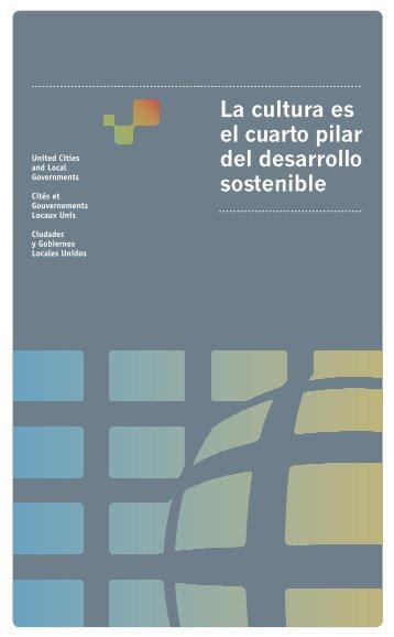 Cultura cuarto pilar desarrollo sostenible - UCLG
