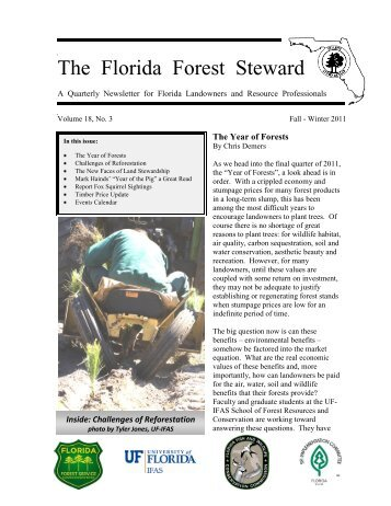 Volume 18, No. 3, Fall-Winter 2011 - School of Forest Resources ...