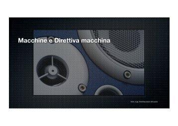 Macchine e Direttiva macchina