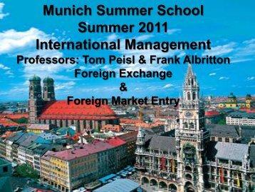 Foreign Exchange Market & Market Entry