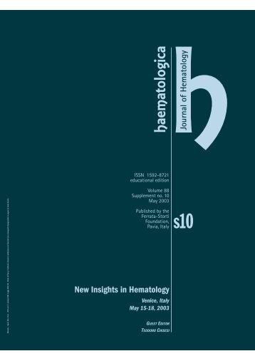 Haematologica 2003;88:supplement no. 10 - Supplements ...