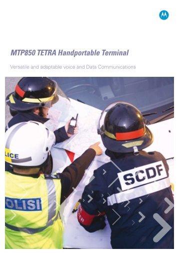 MTP850 TETRA Handportable Terminal - Motorola Solutions
