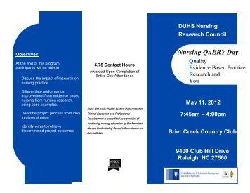 QuERY Brochure - Advanced Clinical Practice - Duke University