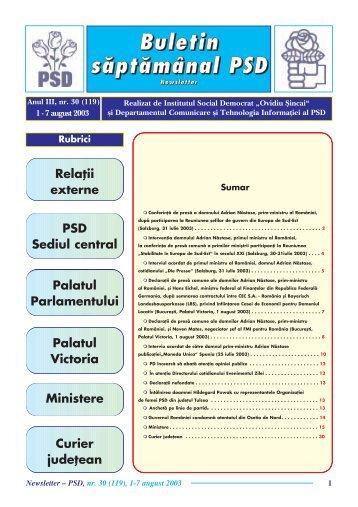 """Ministere - Institutul Social Democrat """"Ovidiu Sincai"""""""