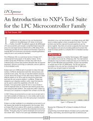 An Introduction to NXP's Tool Suite for the LPC Microcontroller Family