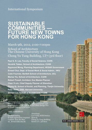 sustainable communities — future new towns for hong kong