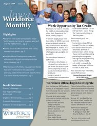 August 2009 - Issue 7 - Iowa Workforce Development
