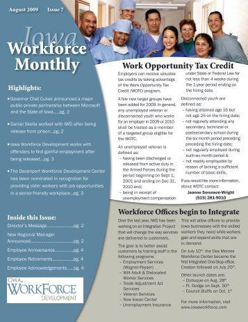 August 2009 - Issue 7 - Iowa Workforce Development