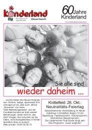wieder daheim ... - Kinderland Steiermark