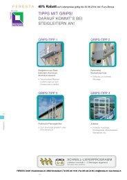 Zubehör und Ausstattung für Steigleitern - FERESTA GmbH